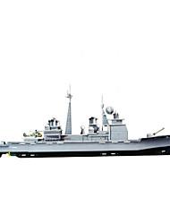 navio de guerra diy quebra-cabeça em forma 3d