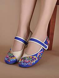Women's Shoes Canvas Flat Heel Round Toe Flats Casual Blue