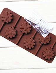 fashoin bruiloft decoratie siliconen chocolade lolly mal keuken bakvormen koken fondant taart tools (willekeurige kleur)