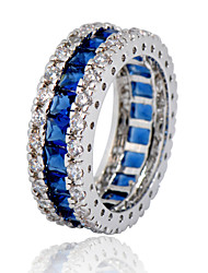 Size 6/7/8/9/10 High Quality men Blue Sapphire Rings 10KT White Gold Filled Ring