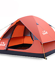 Hewolf Moistureproof Polyester One Room Tent for 3-4 Person Red