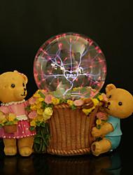 Harz Kristallkugel reizenden Bären wiederaufladbare LED-Lampe