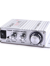 Lepai LP-V3 25W 2-CH Multifunction Stereo Car Audio Power Amplifier - Silver