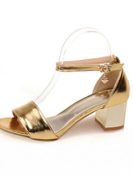 Women's Shoes Chunky Heel Slingback Sandals Shoes with Chain Dress More Colors available