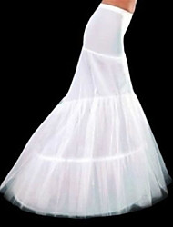 Slips Mermaid and Trumpet Gown Slip Chapel Train Floor-length 3 Polyester White