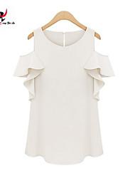 MENGFEILU®Women's New Fashion Off Shoulder Short Sleeve Shirts