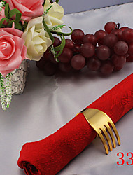 6pcs Iron Spiral Fork Napkin Ring