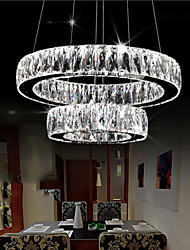 Crystal LED Pendant Light Lighting Modern Two Rings D4060 K9 Large Crystal Indoor Ceiling Lights Fixtures