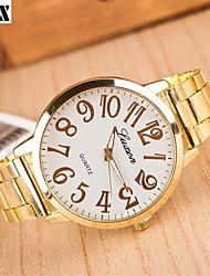 Montre de mode de diamants nombre quartz analogique maille bracelet de ceinture des femmes (couleurs assorties)