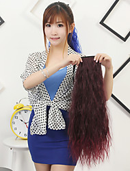 High Quality Synthetic 23.5 Inch Curly Clip In Ribbon Ponytail Hairpiece 14 Colors Available