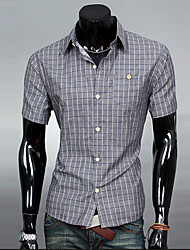 MEN - Vrijetijds shirts ( Katoen )met Korte Mouw