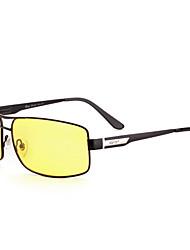 Polarized Men's Alloy Rectangle Fashion Driving Sunglasses