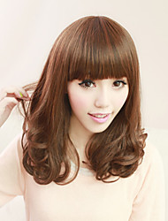 Fashion Little Girl Light Brown Long Hair Wig Hot Pear