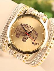 pu banda quartzo analógico pulseira ocasional relógio das mulheres Geneve (cores sortidas)