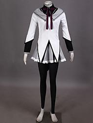 Inspiré par Puella Magi Madoka Magica Homura Akemi Vidéo Jeu Costumes de cosplay Costumes Cosplay Mosaïque BlancTop / Chemisier / Jupe /