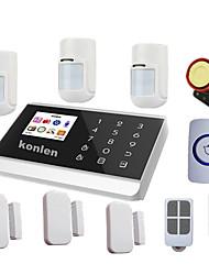 aanraken PSTN gsm alarmsysteem beveiliging home systems met huisdier immuun PIR, android ios relais controle