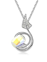 Walk Above Cloud Short Necklace Plated with 18K True Platinum Aurore Boreale Crystallized Austrian Crystal Stones