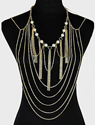 Women's Body Jewelry Body Chain Alloy Unique Design Fashion Jewelry Golden Jewelry Party 1pc