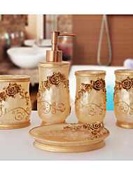 The Noble Roses Pattern Bathroom Ware 5 Sets