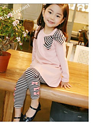 Big Elephant Pink 2pcs New Baby Clothes Girls Dress Sets T-shirt Pants Kids Outfits for 2-8Y F50
