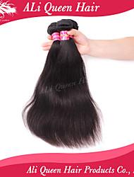 Ali Queen Hair products 6A Brazilian Virgin Hair Staight Natural Black Hair 3pcs/Lot 100% human hair extensions