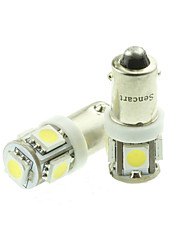 BA9S T4W  W6W LED Blue/Red/Warm White/Green/Yellow/White 1.5W 5X5050SMD 90LM   for Car Light Bulb 10PCS (DC12-16V)