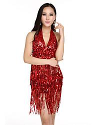 Tops Women's Sequined Sequins Black Gold Red Silver Pool