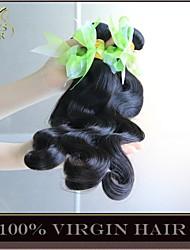 "5 Pcs Lot 8""-30"" Wholesale Unprocessed 6A Virgin Brazilian Hair Body Wave Natural Black Thick Human Hair Weave Bundles"