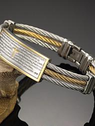 Homme Bracelets Rigides Mode Pierre Gothique bijoux de fantaisie Acier inoxydable Forme Ronde Bijoux Pour Soirée Anniversaire Fête/Soirée