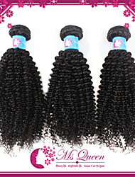 """Unprocessed Peruvian Kinky Curly Hair Extensions 1B Black Remy Human Hair Weave Mixeed Lengths 4pcs/lot 12""""-30"""""""