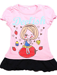 Chilmie Girl's Summer Micro-elastic Tees (Cotton Blends/Knitwear)