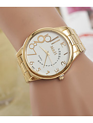 Damenuhren Quarz-Digital-Uhren Schweizer Goldlegierungsstreifen Persönlichkeit