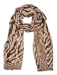 Women's Zebra Print Chiffion Square Bandana Scarf 150*50cm