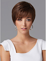 brevi ondulati parrucche dei capelli umani senza cappuccio