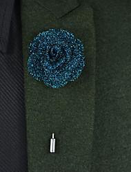 Fleurs de mariage Boutonnières Satin / Métallique Env.22cm