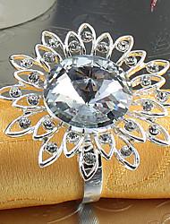 6Pcs Sunflower Diamond Napkin Ring