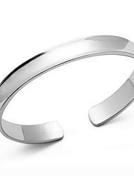 KIKI 925 single concave silver bracelet.