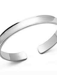 kiki 925 enkele concave zilveren armband.