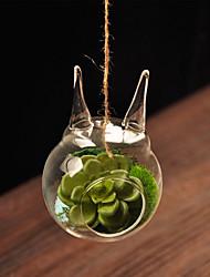centros de mesa de cristal transparente deocrations mesa florero (arena no incluido, flor no incluido)