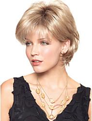 sans bonnet chaleur conviviale courte perruque blonde synthétique