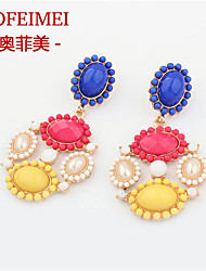 European and American fashion jewelry national wind exaggerated sweet candy colored beads earrings personality