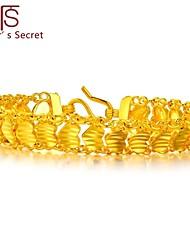 Flower's Secret Placer Heart Charm Flowers Bracelet 7'' length with Hook Clasp