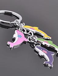liga unisex chaveiro keychain ocasional multicolor golfinho
