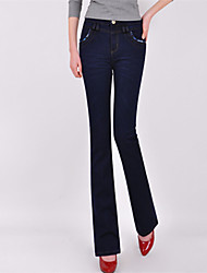 Women's Blue Denim Pant , Bodycon/Casual