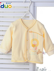 Ajiduo Unisex Newborn Baby Clothing Boy Girl Pure Cotton Cute Buttons Tops Clothes