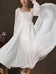 Women's The Lantern Sleeve Fairy Even The Garment Skirt Dress
