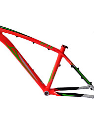 "Neasty Brand MB-NT02 Full Carbon Fiber MTB Frame Bright Red Green Decal 26er Frame 15""/17"""