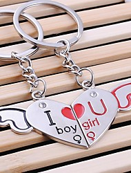 Love Heart Forever Wedding Key Ring Keychain for Lover Valentine's Day(One Pair)