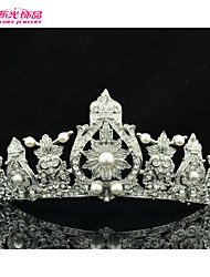 Neoglory Jewelry Classical Flower Tiara/Crown with Clear Crystal Rhinestone for Women/Bridal Pageant/Wedding