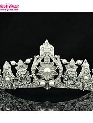 Tiaras ( Liga/Imitação de Pérola/Strass ) - Casamento/Pesta